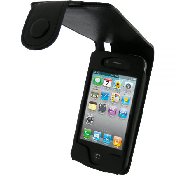 iPhone 4 Black Leather Case